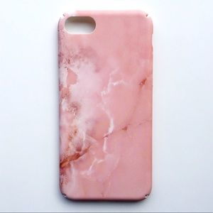 Accessories - NEW iPhone 7/7+/8/8+ Case Pink Granite Marble